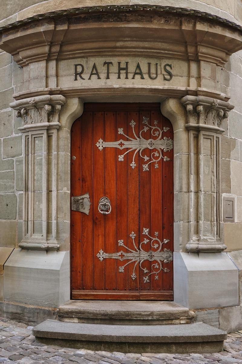 Eingang zu dem Überlinger Rathhaus